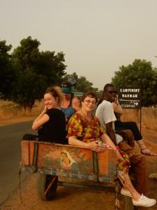 Ballade en charette au campement baobab